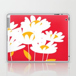 Flowers on Red by Friztin Laptop & iPad Skin