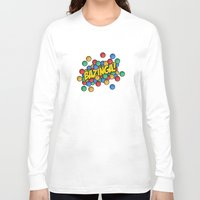 bazinga Long Sleeve T-shirts featuring Bazinga! by Skeleton Jack