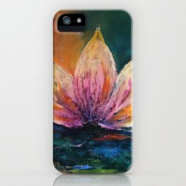 The Lotus House of Love, Peace & Migration iPhone Case