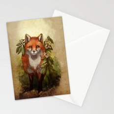 Fox [caming out of the woods] Stationery Cards