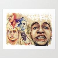 misfits Art Prints featuring Misfits  by Seventy-three