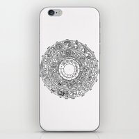 calendar iPhone & iPod Skins featuring Mayan Calendar by Mantis Galleries