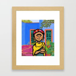 Frida K. Framed Art Print