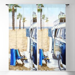 HOLIDAY AT THE BEACH Blackout Curtain