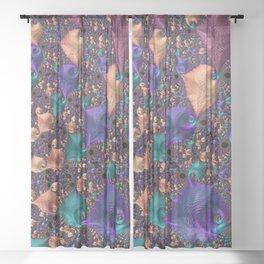 pattern art ornament fractal Sheer Curtain