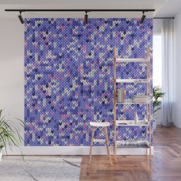 Knitted multicolor pattern 6 Wall Mural