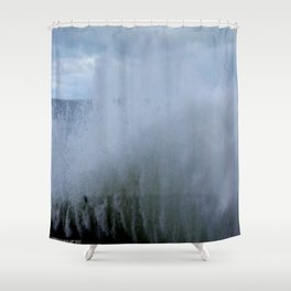 A Gale to Blow the Year Out #2 (Chicago Waves Collection) Shower Curtain