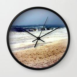 Rough Seas & Sea Foam Wall Clock