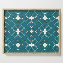 Ethnic pattern in blue Serving Tray