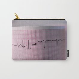 Strip of a human electrocardiogram Carry-All Pouch