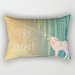 easter sheep Rectangular Pillow