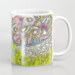 Jellyfish Belly Fluorescent Underwater Sea Abstract Drawing Coffee Mug