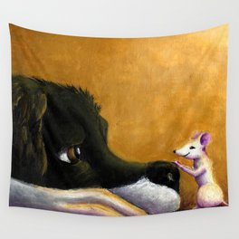 Dog and Mouse Wall Tapestry