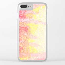 Pink & Yellow Cedar Clear iPhone Case