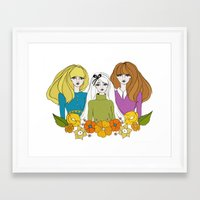 60s Framed Art Prints featuring 60s girls by Bunny Miele
