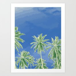 Coconut Tree Touch to Sky #society6 Art Print