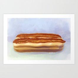 Maple Bacon Long John Art Print