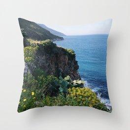coast of sicily Throw Pillow