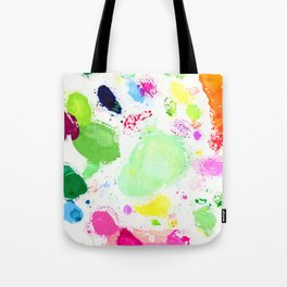 Messy Paint Palette Tote Bag