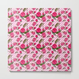 Australian Native Florals - Pink King Protea Flowers Metal Print