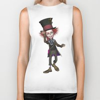 mad hatter Biker Tanks featuring Mad Hatter by apgme