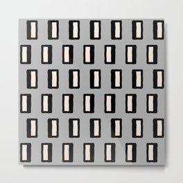 Chad Pattern Grey 2 Metal Print