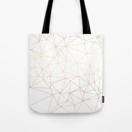 Geometric Gold Minimalist Design Tote Bag