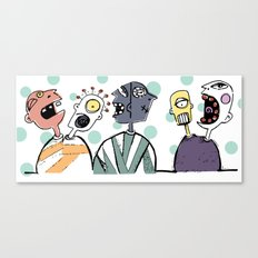 Crazy Heads in Sweaters Canvas Print