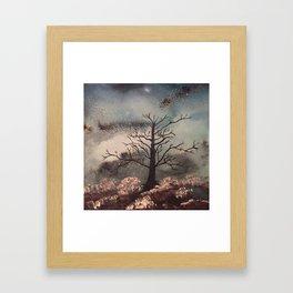 Tree of Life amongst the Universe Framed Art Print