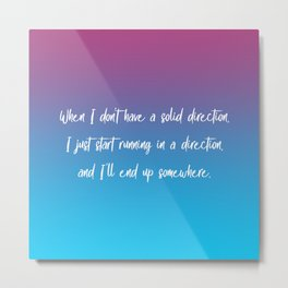 Solid Direction Metal Print