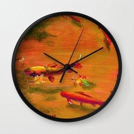 Small Koi Pond 21 Wall Clock
