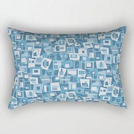 Interlocking Blues Rectangular Pillow
