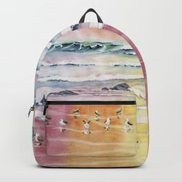 Sandpipers on Beach Backpack
