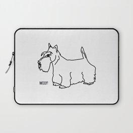 Woof Scottish Terrier Laptop Sleeve