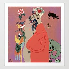 Klimt Ladies Art Print
