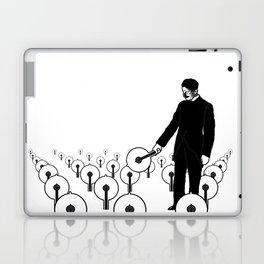 Tesla's Lights Black & White Laptop & iPad Skin
