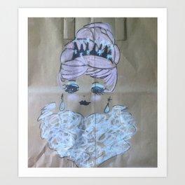 Pink Ladies: Queenie Art Print