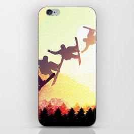Snowboard Skyline Rainbow iPhone Skin