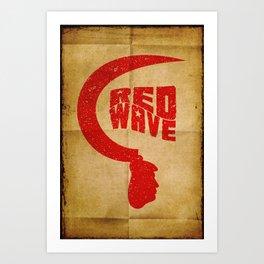Red Wave. Art Print