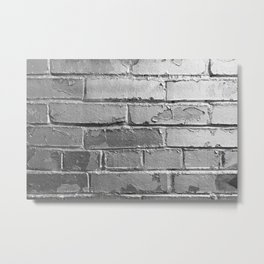 Silver Bricks Wall Metal Print