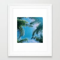 palm trees Framed Art Prints featuring PALM TREES by C O R N E L L