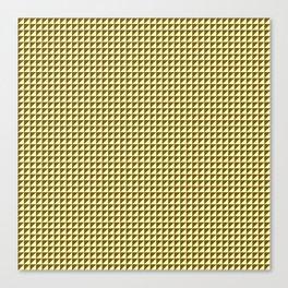 Ocre Triangulate Canvas Print