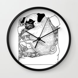 I'm Tired, You're a Lonely Pug Wall Clock