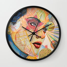 Abstract Art Female Women Portrait Painting ...Honestly Speaking Wall Clock