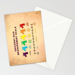 Unicorny Pain Measurement Scale Stationery Cards