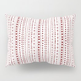 Nordic Knit - Vertical - Red Pillow Sham