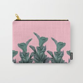 Rubber trees with pink Carry-All Pouch