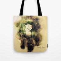 emerald Tote Bags featuring Emerald by Cornelia Baciu