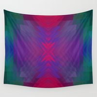 swimming Wall Tapestries featuring Swimming pool by Cherie DeBevoise