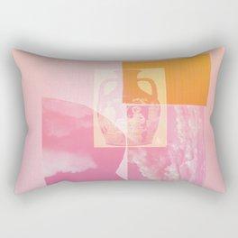 Portland Vase in Pink Rectangular Pillow